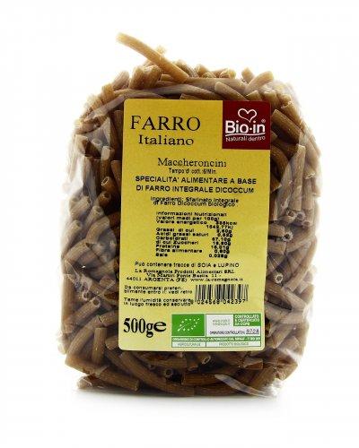 Maccheroncini di Farro Integrale Dicoccum Bio