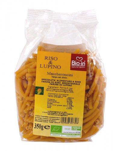 Maccheroncini Semintegrali Riso e Lupino Bio Senza Glutine