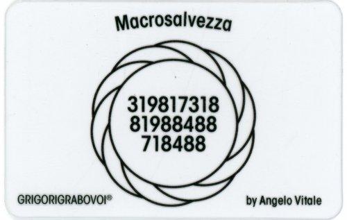 Tessera Radionica - Macrosalvezza