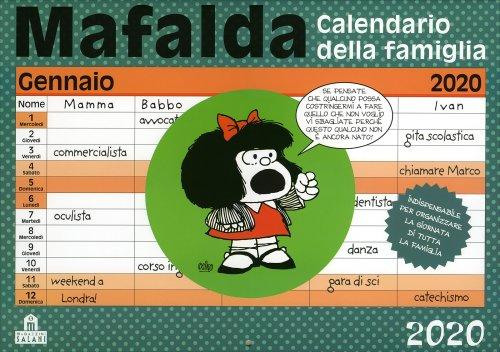 Mafalda - Calendario della Famiglia 2019