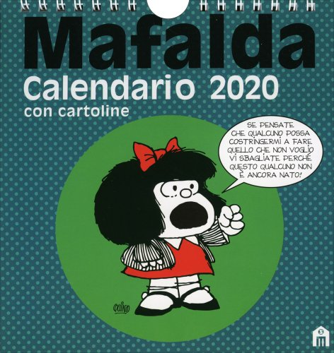 Mafalda - Calendario da Tavolo con Cartoline 2020
