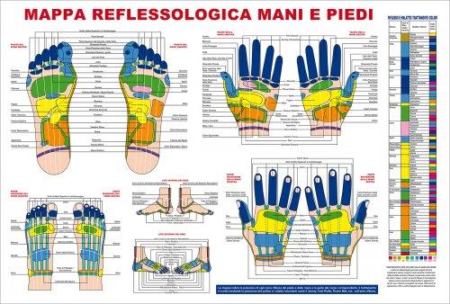 Mappa Reflessologia Mani e Piedi
