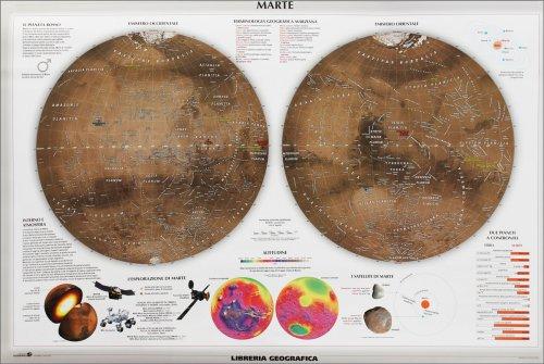 Carta Murale Astronomica - Marte - Luna - Grande - Poster