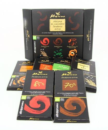 Selezione di Cioccolato Fondente Extra in 6 Gusti - Mascao