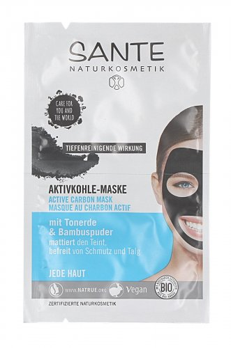 Maschera Viso Carbone Attivo