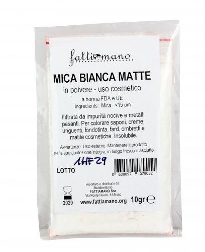 Mica Bianca Matte - Colore Per Cosmetici
