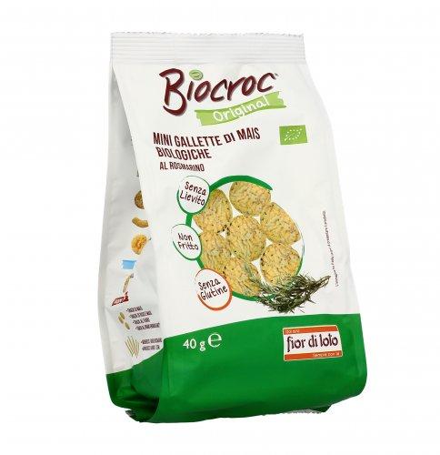 Biocroc Mini Gallette di Mais al Rosmarino - Senza Glutine