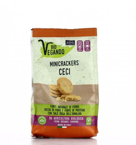 Mini Crackers di Ceci - Bio Vegando