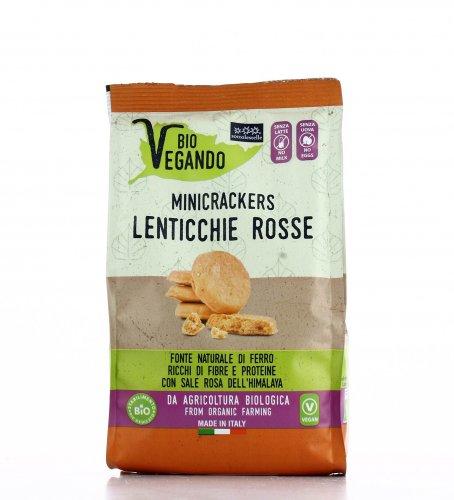 Mini Crackers di Lenticchie Rosse - Bio Vegando