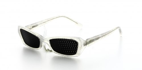 Occhiali Senza Lenti - Mini Bianco Ghiaccio Traslucido Liscio