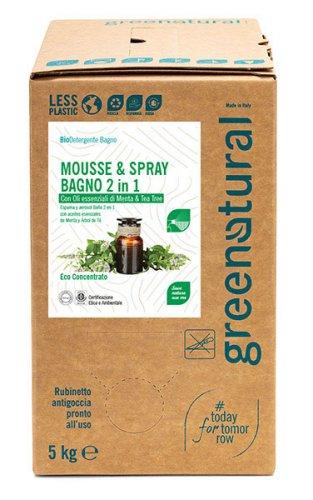 Bio Detergente Mousse & Spray Bagno 2 in 1
