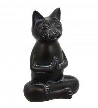 Gatto Nero In Meditazione 15 Cm - 14909