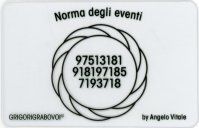 Tessera Radionica 65 - Norma degli Eventi