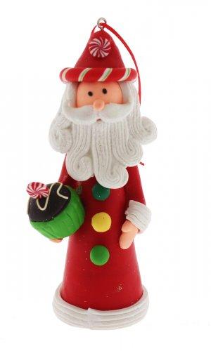Natalini Scintillanti - Babbo Natale Alto con Panettone