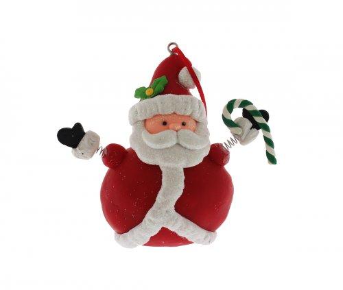 Natalini Scintillanti - Babbo Natale Molle con Bastone