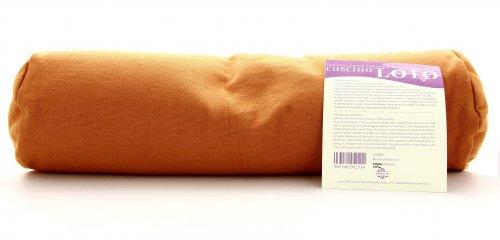 Cuscino Neckroll Arancio con Pula e Lavanda