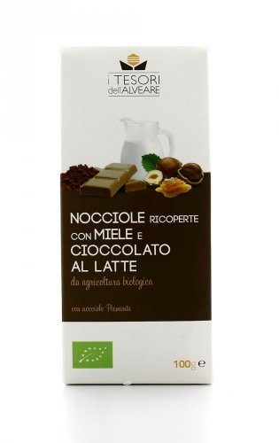 Nocciole Piemonte Bio con Miele e Cioccolato al Latte