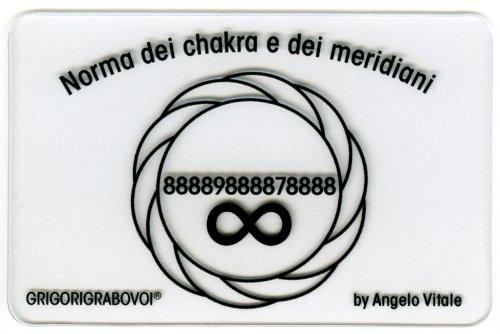 Tessera Radionica - Norma dei Chakra e dei Meridiani