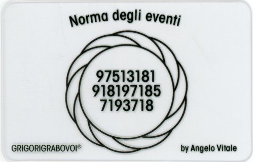 Tessera Radionica - Norma degli Eventi