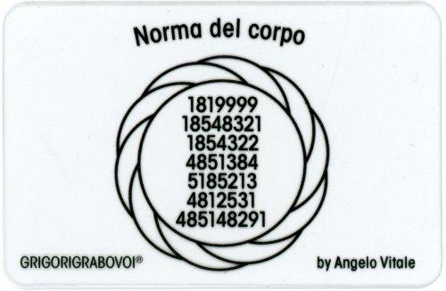 Tessera Radionica 97 - Norma del Corpo