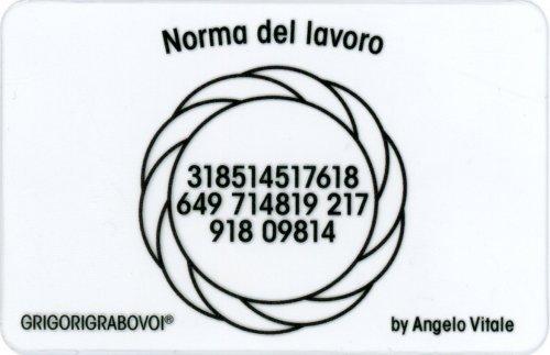 Tessera Radionica - Norma del Lavoro