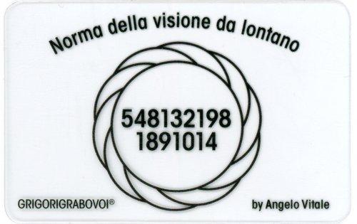 Tessera Radionica - Norma della Visione da Lontano