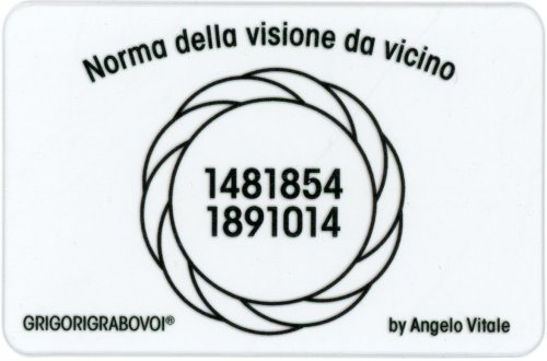 Tessera Radionica - Norma della Visione da Vicino