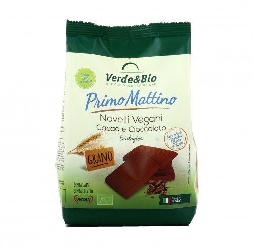 Biscotti Novelli Vegani Cacao e Cioccolato Bio - Primo Mattino