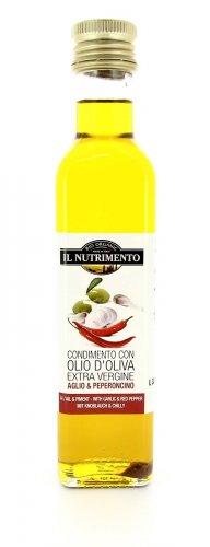 Olio d'Oliva Extra Vergine - Aglio e Peperoncino - 250 ml.