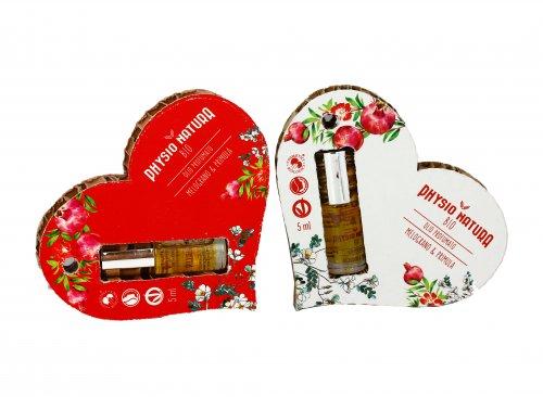 Olio Profumato Melograno & Primula - Confezione a Cuore