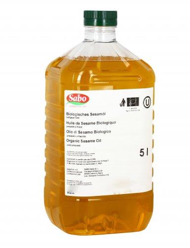 Olio di Semi di Sesamo Biologico - 5 Litri