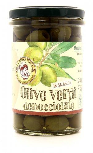 Olive Verdi in Salamoia - Denocciolate