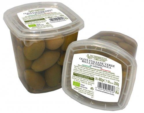 Olive Italiane Verdi Bella di Cerignola in Salamoia