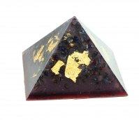 Piramide Orgonite e Shungite  - Casa di Ra Viola 9 cm