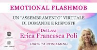 """Diretta streaming """"Emotional Flashmob"""" con Erica F. Poli – Sabato 12 dicembre 2020"""