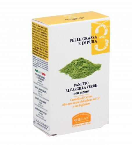 Panetto all'Argilla Verde per Pelle Grassa e Impura