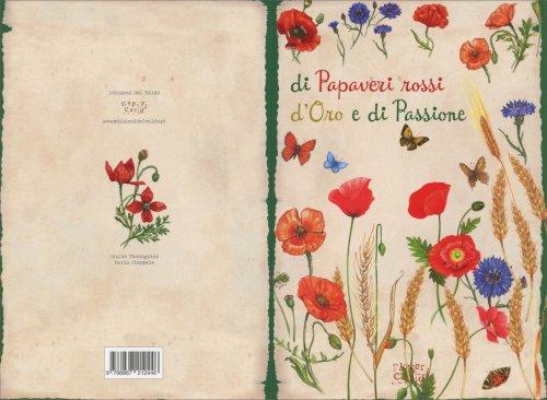 Biglietto d'Auguri - Papaveri Rossi d'Oro e di Passione