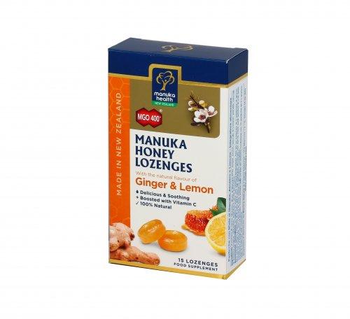 Caramelle con Miele di Manuka MGO™400+ Zenzero e Limone