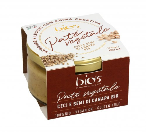 Patè Vegetale - Ceci e Semi di Canapa Bio