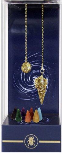 Pendolo Sette Chakra con 7 Pietre