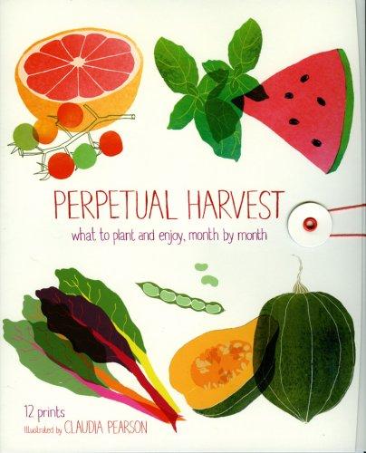 Set di 12 stampe - Calendario Perpetual Harvest - In Inglese