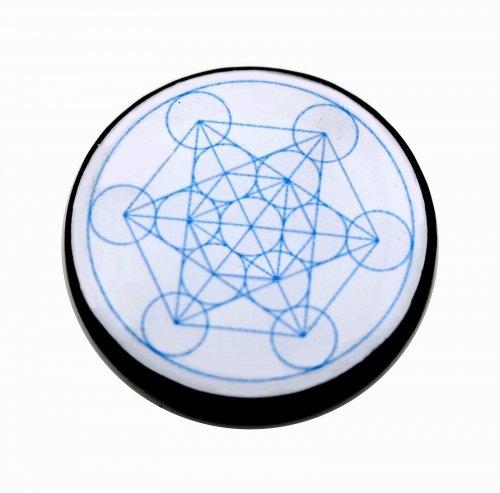 Piastrina per Cellulare in Shungite - Cubo di Metatron