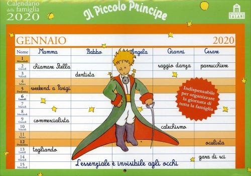Il Piccolo Principe - Calendario della Famiglia 2020