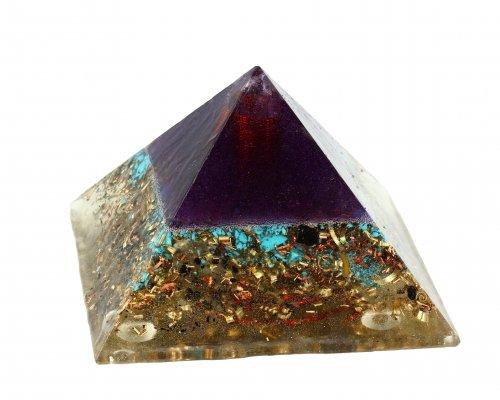 Piramide in Orgonite e Shungite  - Blue Sky Nature