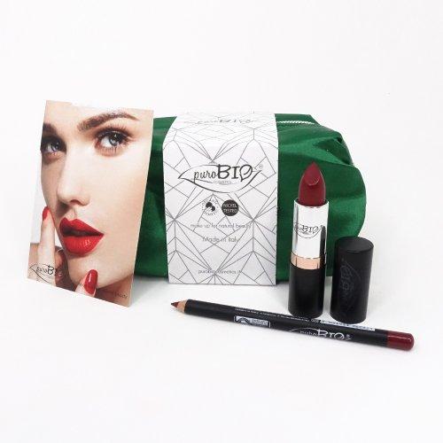 Pochette Verde Lucida - Set Cosmetici Regalo