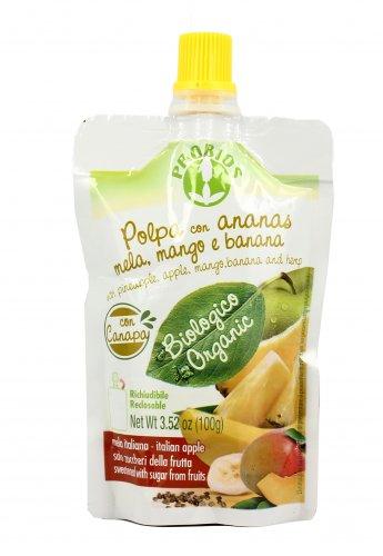 Polpa con Ananas, Mela, Mango e Banana