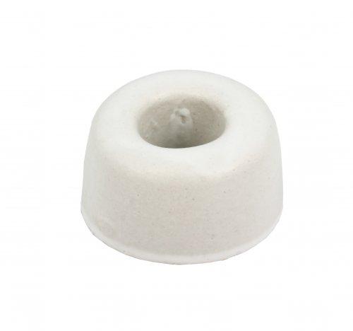 Porta Spazzolino da Denti in Ceramica Bianca