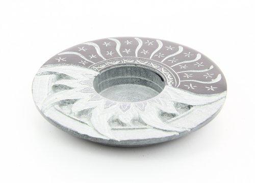 Portacandela Sole Luna In Pietra Saponaria