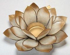 Portalumino Lotus 7° Chakra - Bianco