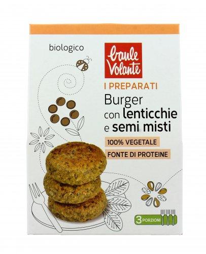 Preparato per Burger di Lenticchie e Semi Misti